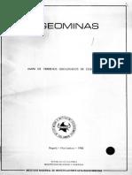 Mapa de Terrenos Geologicos Colombianos (1983) (Memoria)