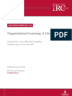 Organizational Learning a Literature Review