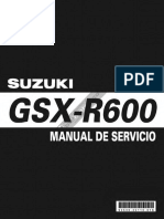 Manual Mantenimiento GSXR-600