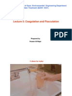 Lecture 5. Coagulation and Flocculation