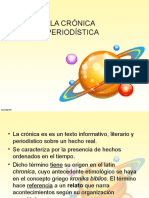 Cronica y Sus Características