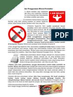 Standar Penggunaan Mesin Pemindai (Usage Standard of Scanner Machine)