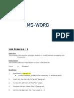 Word Exercises