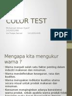 Color Test (analisis warna minyak dan lemak)