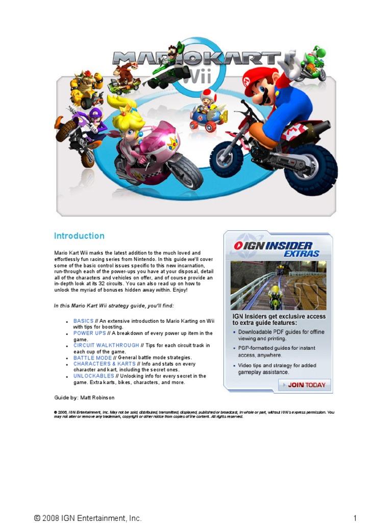 Mario Kart Wii Player Guide Video Games Luigi Circuit