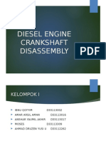 Diesel Engine Crankshaft Disassembly