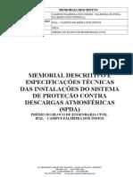 Memorial Descritivo Spda- Ifal
