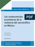 Las Consecuencias Económicas de La Violencia Del Narcotráfico en México
