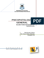 Silabo - Psicopatología General