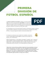 Primera División de Fútbol Español