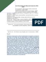 Catalogação sobre Perversão nas Obras de Freud de 1905