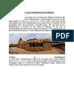 Tamilnadu Kumbakonam Temples