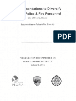 Recommendations to Diversify Police and Fire Departments