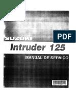 Manual de serviços Intruder 125