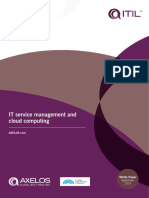 IT Service Management and Cloud Computing White Paper