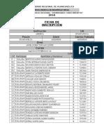 Ficha de Inscripción 2016-America