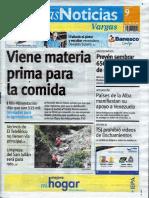 Últimas Noticias Vargas  jueves 9 de junio de  2016