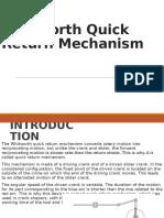 Whitworth quick return Mechanisms