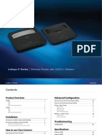 Linksys Wireless Adsl Modem Router x3500 User Manual