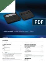 Linksys Wireless Adsl Modem Router x3500 User Manual | Wi Fi