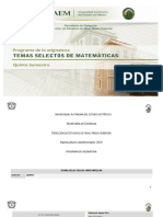 Temas Selectos de Matematicas