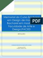 Memorial Curso de Moda 2010 a 2013 Pronto - Para Mesclagem