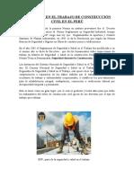 Seguridad en El Trabajo de Construcción Civil en El Perú