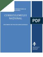 """Repere pentru proiectarea şi actualizarea curriculumului naţional"""", care conţine profilul absolventului de gimnaziu"""