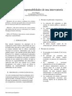 Principios y Responsabilidades de una interventoría