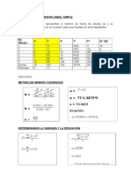Ejercicio de Regresion Lineal Simple 1