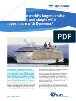 Case Study RCCL- Gleistein Ropes With Dyneema