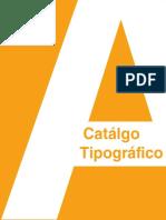 Catálogo de usos tipográficos en productos y tipografías recomendadas para cuerpos de texto