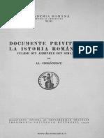 Documentele Privitoare La Istoria Romanilor