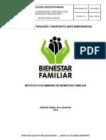 PP152..MPA1.P1 Plan Preparación y Respuesta Ante Emergencias Reg Meta CZ Acacias v1