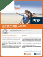 Baroda Pioneer ELSS %2796 Leaflet