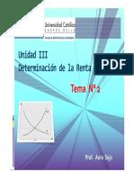 (Unidad III. Determinación de La Renta Nacional. Tema 2) (1)