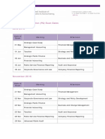 Exam Dates June and November 2016