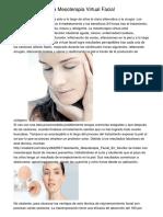 Electroporación, La Mesoterapia Virtual Facial