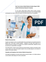 Hospitals and Outpatient Care Centers Global Market Analytics Released By The Business Research Company