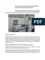 Medical and Diagnostic Laboratory Services  Global Market Analytics Released By The Business Research Company