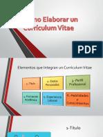 Como Elaborar Un Currículum Vitae
