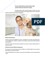 Veterinary Services Global Market Analytics Released By The Business Research Company