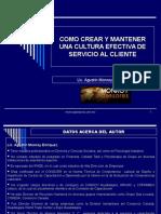 Material Curso Cultura Efectiva de Servicio Al Cliente