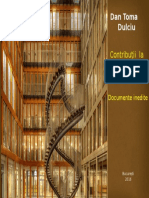 Dan Toma Dulciu Contributii la biografia lui Mihai Eminescu Documente inedite