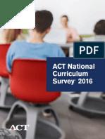 ACT National Curriculum Survey 2016