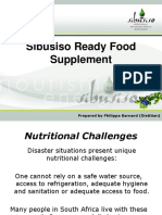 Presentation Sibusiso Ready Food Supplement October 2010 PDF