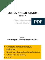 Costos y Presupuestos s7 20141 . Costeo Por Orden de Producción