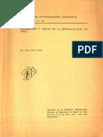 DISTRIBUCION Y ORIGEN DE LA MINERALIZACION EN CHILE.