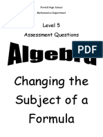 n5 algebra change subject ppqs