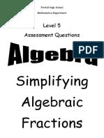 n5 algebra algebraic fractions ppqs